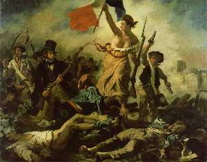 Eugène Delacroix - Liberty Leading the People, Louv