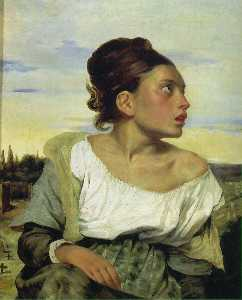 Eugène Delacroix - Orphan Girl at the Cemetery, Louvr