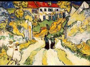 Vincent Van Gogh - Village stairs