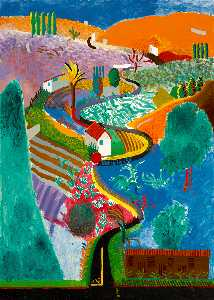 David Hockney - Nichols canyon