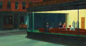 Edward Hopper - Nighthawks, The Art Institute of Chicago, Chica