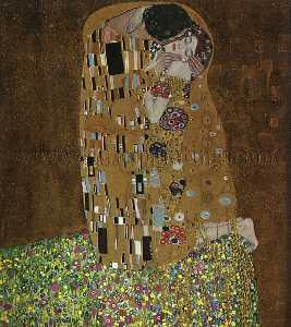 Gustav Klimt - The Kiss, oil on canvas.