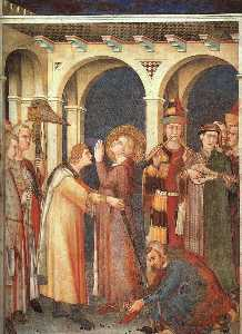 Simone Martini - St. Martin is Knighted, a..