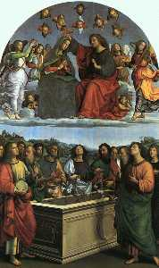 Raphael (Raffaello Sanzio Da Urbino) - Coronation of the Virgin (Oddi Altarpiece),