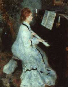 Pierre-Auguste Renoir - Lady at the Piano, Art Institute of Chicago