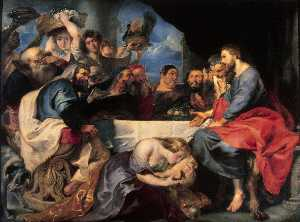 Peter Paul Rubens - Feast in the house of Simon the pharisee Eremitaget