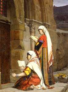 Jean Jules Antoine Lecomte Du .. - Christian Women at the Tomb of..
