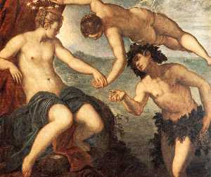 Tintoretto (Jacopo Comin) - Ariadne, Venus and Bacchus