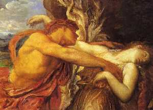 George Frederic Watts - Orpheus and Eurydice (Det..