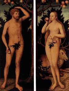 Lucas Cranach The Younger - Adam and Eve
