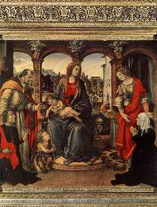 Filippino Lippi - with Child and Saints