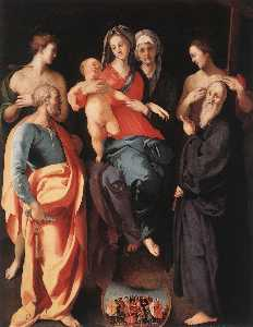Jacopo Carucci (Pontormo) - Madonna and Child with St Anne and Other Saints