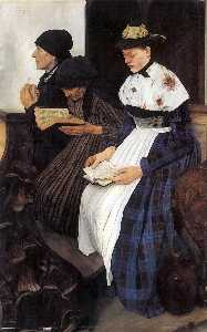 Wilhelm Maria Hubertus Leibl - Three Women in Church