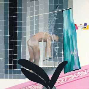 David Hockney - Man in Shower in Beverly ..