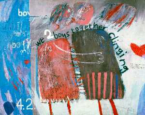 David Hockney - We two boys together clin..
