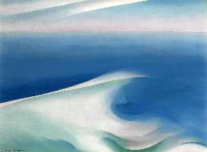 Georgia Totto O'Keeffe - Blue wave maine