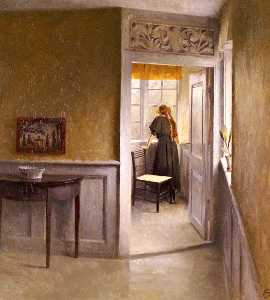 Peter Ilsted - Vilhelm looking out the w..