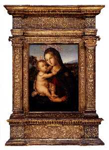 Pinturicchio - Bernardino di betto the madonna and child before a landscape