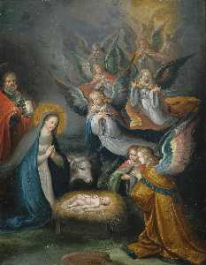 Cornelis De Baellieur - The Holy Family with Ange..