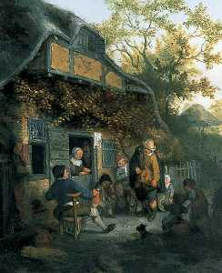 Cornelis Dusart - The Hurdy-Gurdy Player