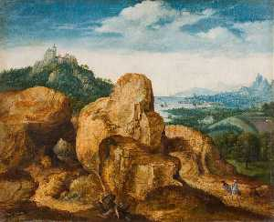 Cornelis Massys - Landscape with the Flight to E..