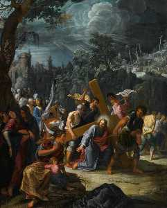 David Teniers The Elder - Christ on the road to calvary