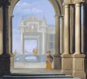 Dirck Van Delen - The Entrance to a Palace
