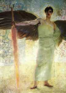 Franz Von Stuck - The Guardian of Paradise