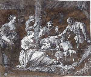 Gerrit Van Battem - The adoration of the shep..