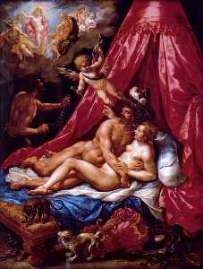 Hendrick De Clerck - Mars and Venus