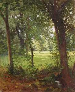 Henri Biva - Forest in the spring