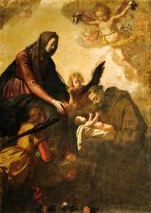 Jacopo Da Empoli - madonna who hands the child to St. Francis