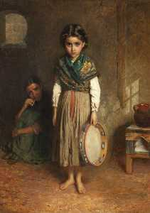 John Bagnold Burgess - A little spanish gipsy