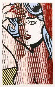 Roy Lichtenstein - NUDE WITH BLUE HAIR