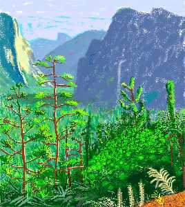 David Hockney - Yosemite i