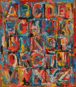 Jasper Johns - Number and Alphabet