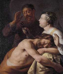 Jan Andrea Lievens - Samson and Delilah