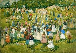 Maurice Brazil Prendergas.. - May Day, Central Park