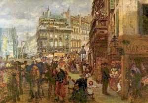 Adolph Menzel - Weekday in Paris