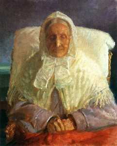 Anna Kirstine Ancher - The Artist-s Mother, Anna Hedvig Brøndum