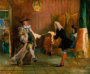 William Powell Frith - Monsieur Jourdain's Danci..