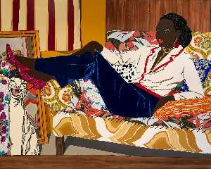 Mickalene Thomas - Portrait of Mnonja