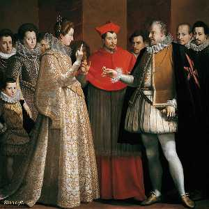 Jacopo Chimenti - The Marriage of Marie de'..