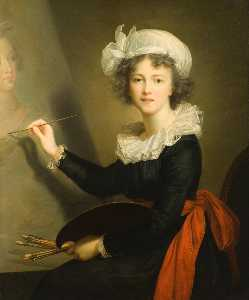 Elisabeth-Louise Vigée-Le.. - The Artist at Work (Self ..