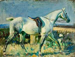 Alfred James Munnings - My Grey Mare