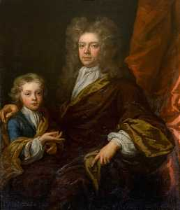 John Baptist De Medina - The Honourable Sir David Dalrymple, Bt, Younger Son of 1st Viscount Stair, and His Son Sir James Dalrymple, Bt