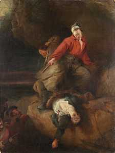 Henry Perlee Parker - Smugglers Attacked