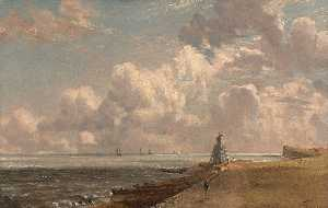 John Constable - Harwich The Low Lighthouse and Beacon Hill
