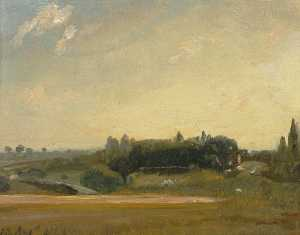 John Constable - View Towards the Rectory, East Bergholt