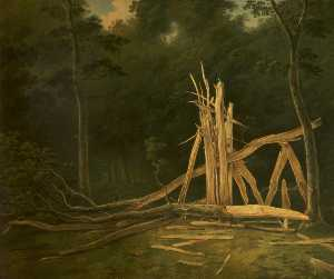 John Boultbee - An Oak Tree struck by Lig..